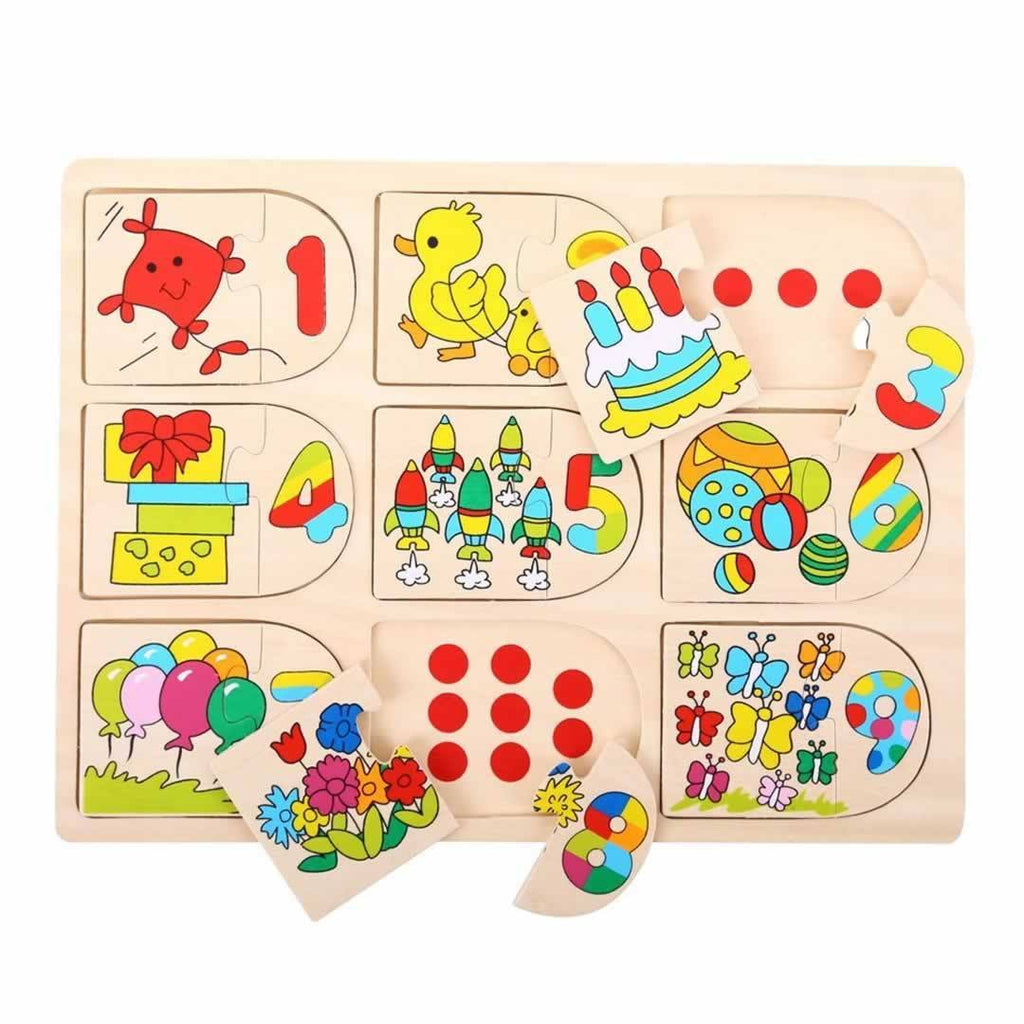 Puzzles - BigJigs Matching Animal & Number Puzzle