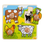 BigJigs My First Peg Puzzle - Farm - Puzzles - Natural Baby Shower