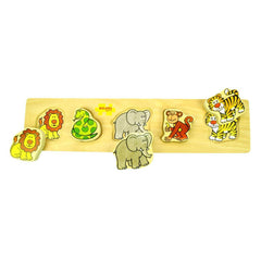 Puzzles - BigJigs Wooden Chunky Jigsaw - Jungle