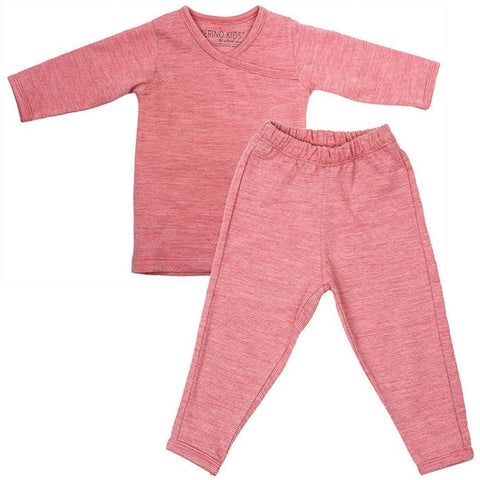 Merino Kids Essentials - Pyjamas - Raspberry-Pyjamas- Natural Baby Shower