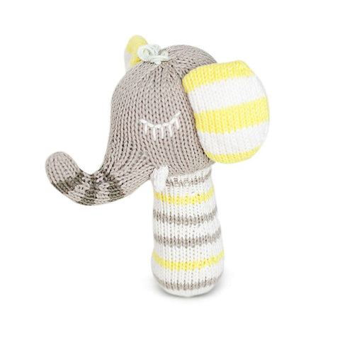 Finn + Emma Mini Rattle - Piper the Elephant-Rattles-Default- Natural Baby Shower