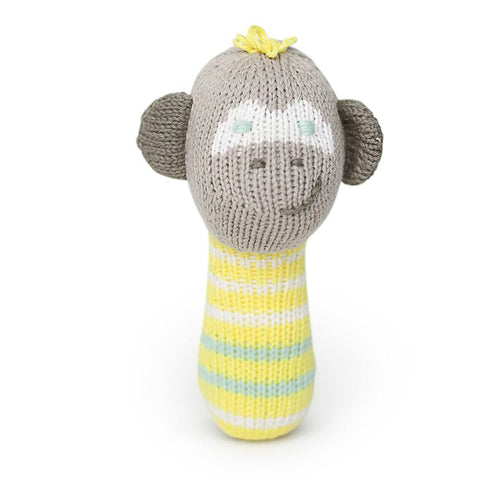 Finn + Emma Mini Rattle - Theo the Monkey - Rattles - Natural Baby Shower