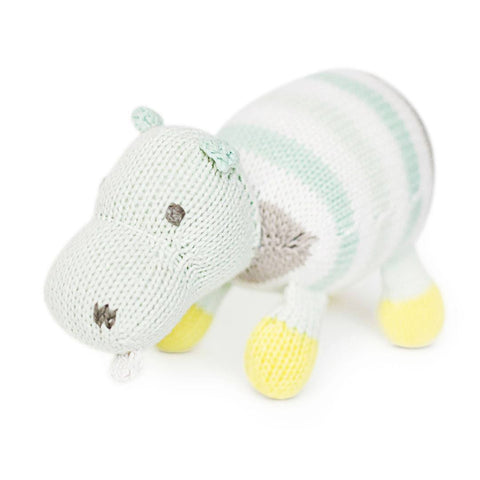 Finn + Emma Rattle Buddy - Henry the Hippo - Rattles - Natural Baby Shower