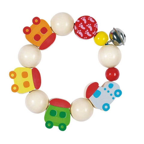 Rattles - Heimess Wooden Touch Ring Elastic - Mini Train