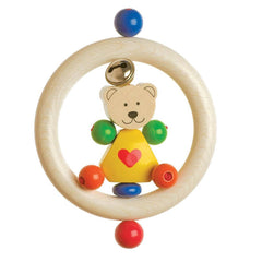 Rattles - Heimess Wooden Touch Ring - Teddy