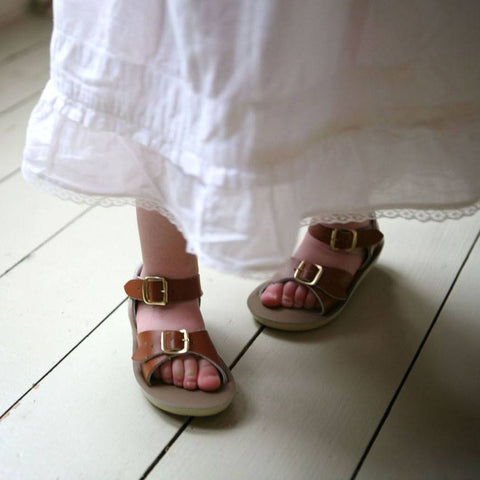 Salt-Water Sun-San Kids Sandals - Surfer - Tan-Sandals- Natural Baby Shower