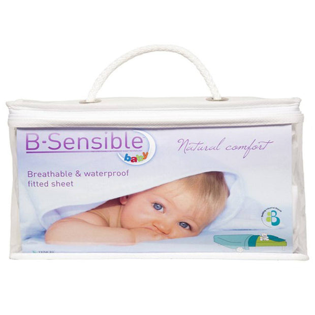 BabyBay B-Sensible 'Tencel' Fitted Sheet - White-Sheets-Default- Natural Baby Shower