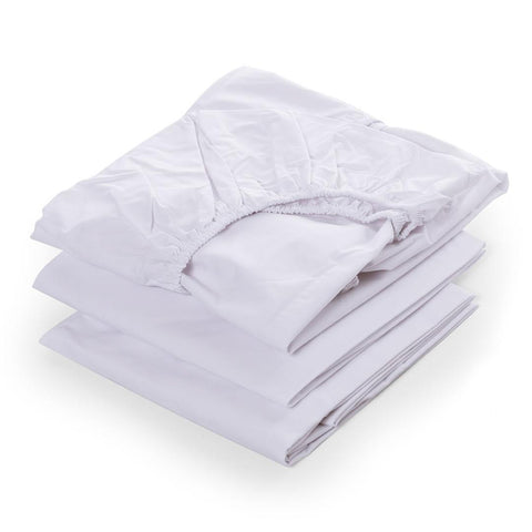 moodelli Babybox 3pc Fitted Sheet Set - White-Sheets- Natural Baby Shower