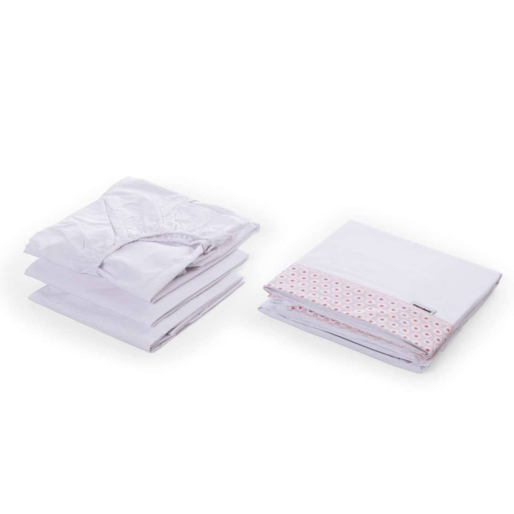 moodelli Babybox 4pc Fitted Sheet Set - Sheets & Bedding - Natural Baby Shower