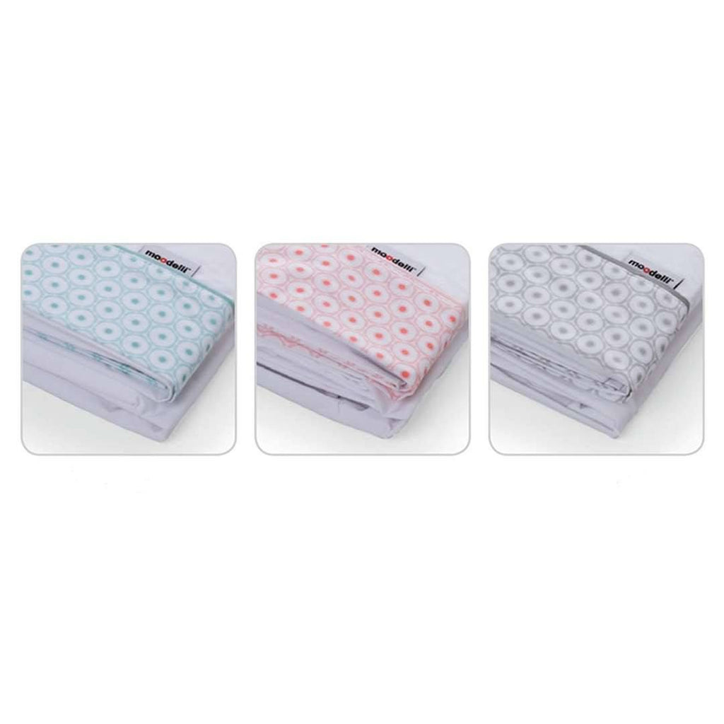 Sheets - Moodelli Babybox 4pc Fitted Sheet Set