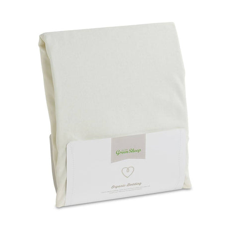 The Little Green Sheep - Organic Jersey Fitted Sheet - Single 90x190cm-Sheets-Default- Natural Baby Shower