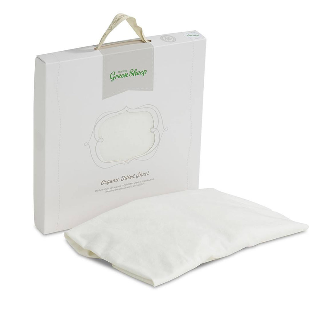 The Little Green Sheep - Organic Jersey Fitted Sheet - Stokke/Leander 70x120cm-Sheets-Default- Natural Baby Shower