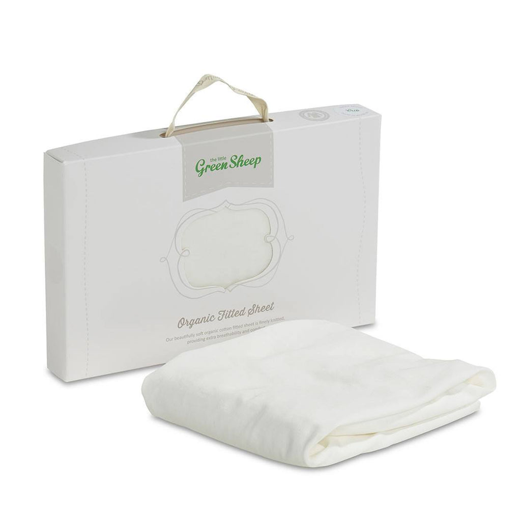 The Little Green Sheep - Organic Jersey Fitted Sheet - Stokke Mini Crib 60x70cm-Sheets-Default- Natural Baby Shower