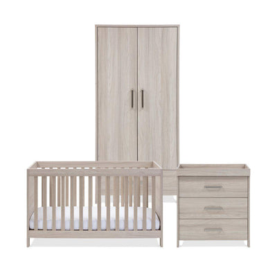 Silver Cross 3 Piece Furniture Set - Ascot-Nursery Sets-No Mattress- Natural Baby Shower