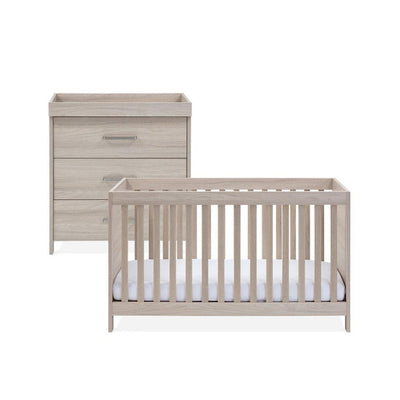 Silver Cross Cot Bed + Dresser - Ascot-Nursery Sets-No Mattress- Natural Baby Shower