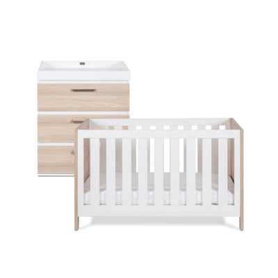 Silver Cross Cot Bed + Dresser - Finchley-Nursery Sets- Natural Baby Shower