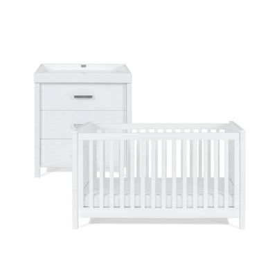 Silver Cross Cot Bed + Dresser - Primrose Hill-Nursery Sets- Natural Baby Shower