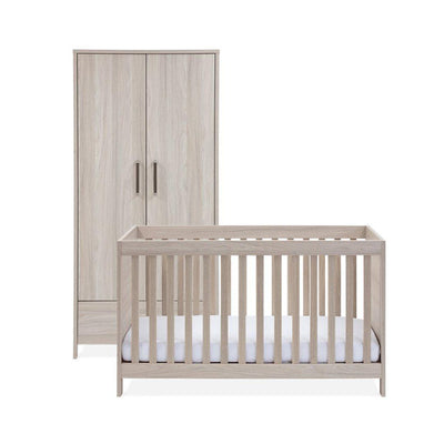 Silver Cross Cot Bed + Wardrobe - Ascot-Nursery Sets-No Mattress- Natural Baby Shower