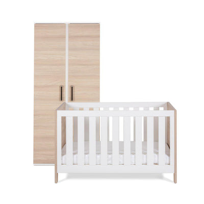 Silver Cross Cot Bed + Wardrobe - Finchley-Nursery Sets- Natural Baby Shower