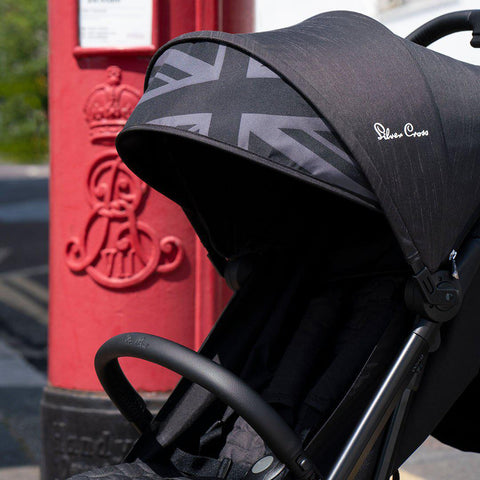 Silver Cross Wing Pushchair - Powder Black-Strollers- Natural Baby Shower