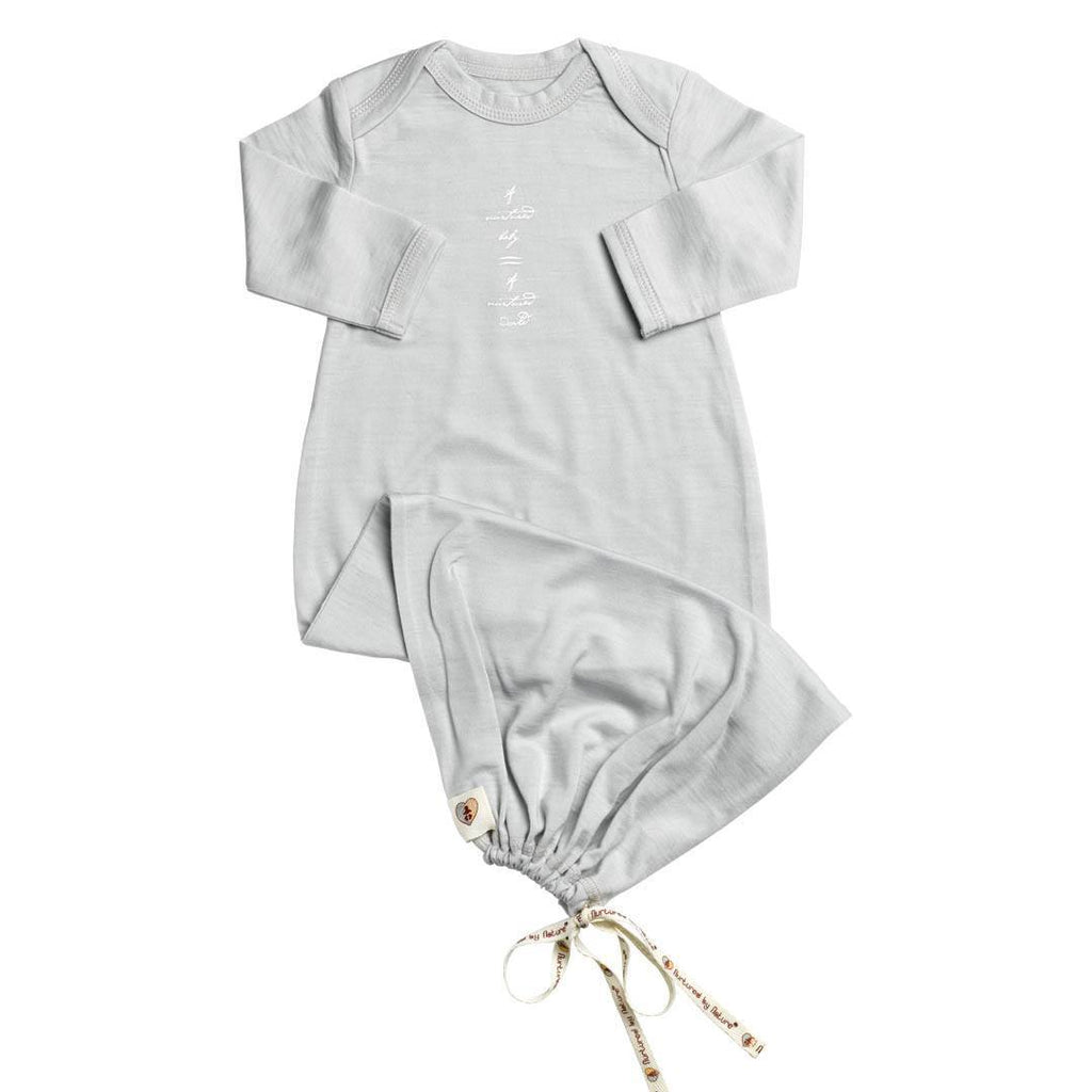 Sleep Gowns - Nurtured By Nature Baby Night Sack - Hush Merino - Pumice