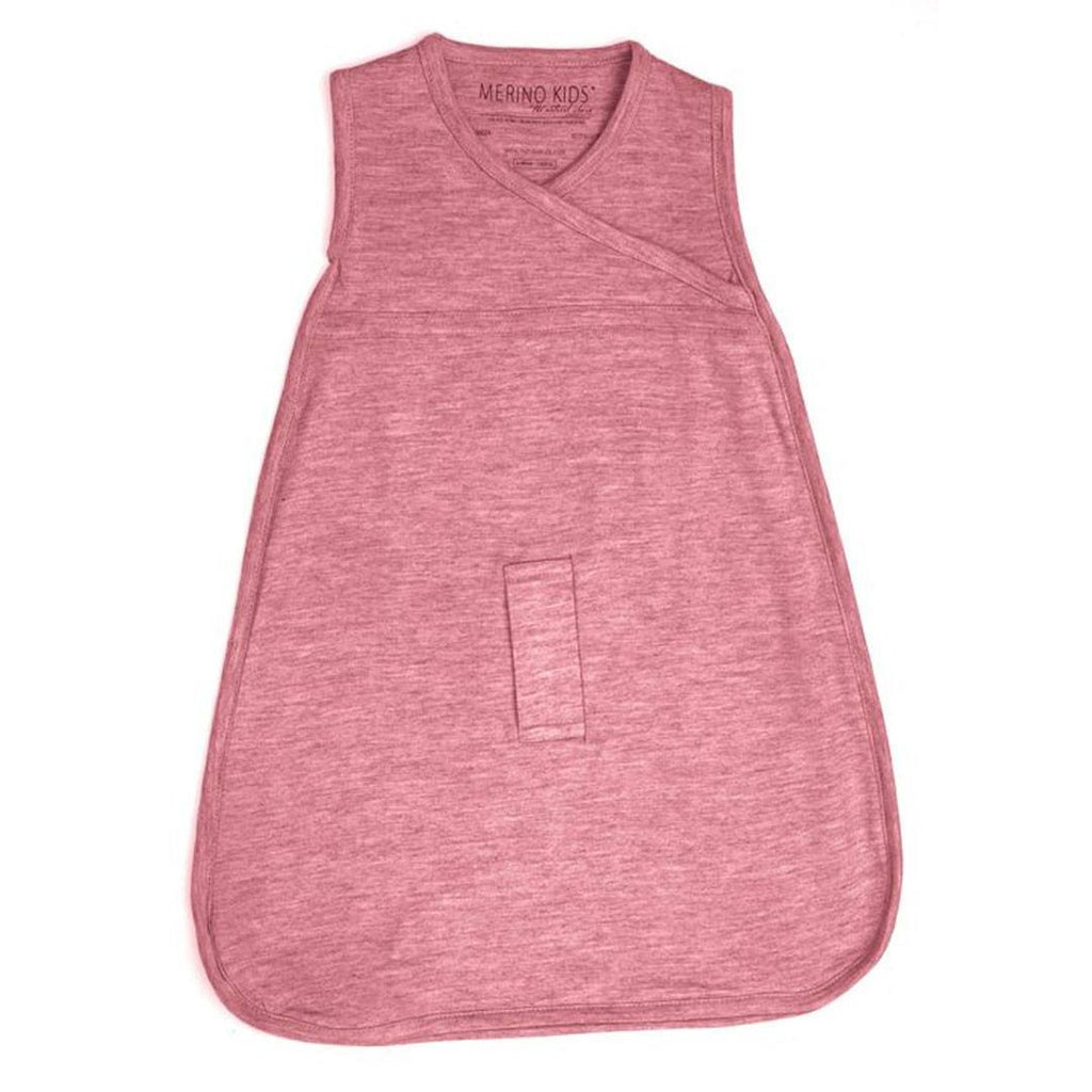 Merino Kids Cocooi Sleep Bag - Raspberry-Sleeping Bags-0-24m-Raspberry- Natural Baby Shower