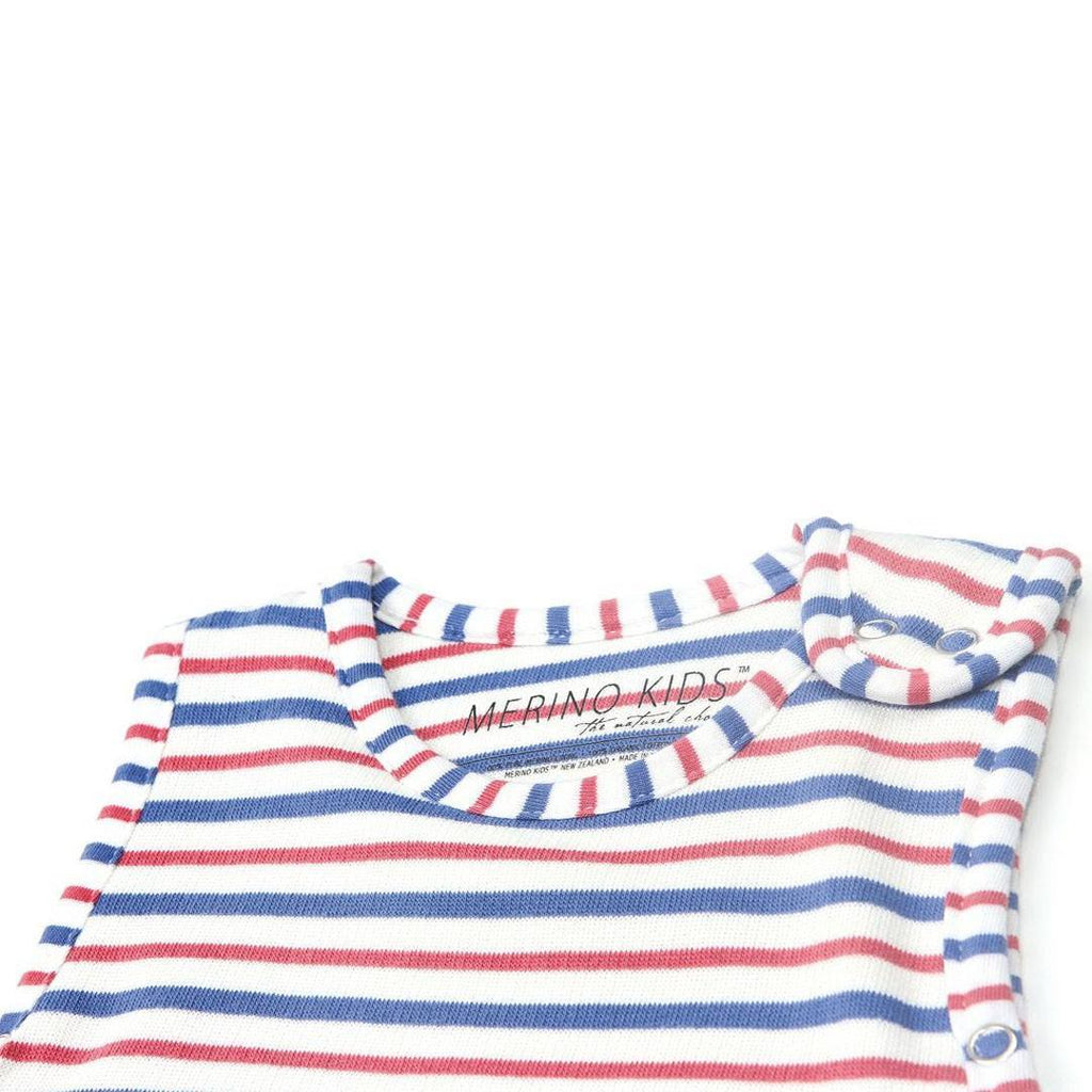 Merino Kids Go Go Baby Sleeping Bag Duvet Weight Banbury & Raspberry Neck