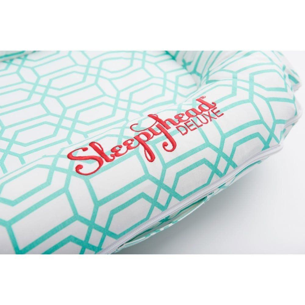 Sleepyhead Deluxe+ Spare Cover - Minty Trellis-Baby Nest Covers- Natural Baby Shower