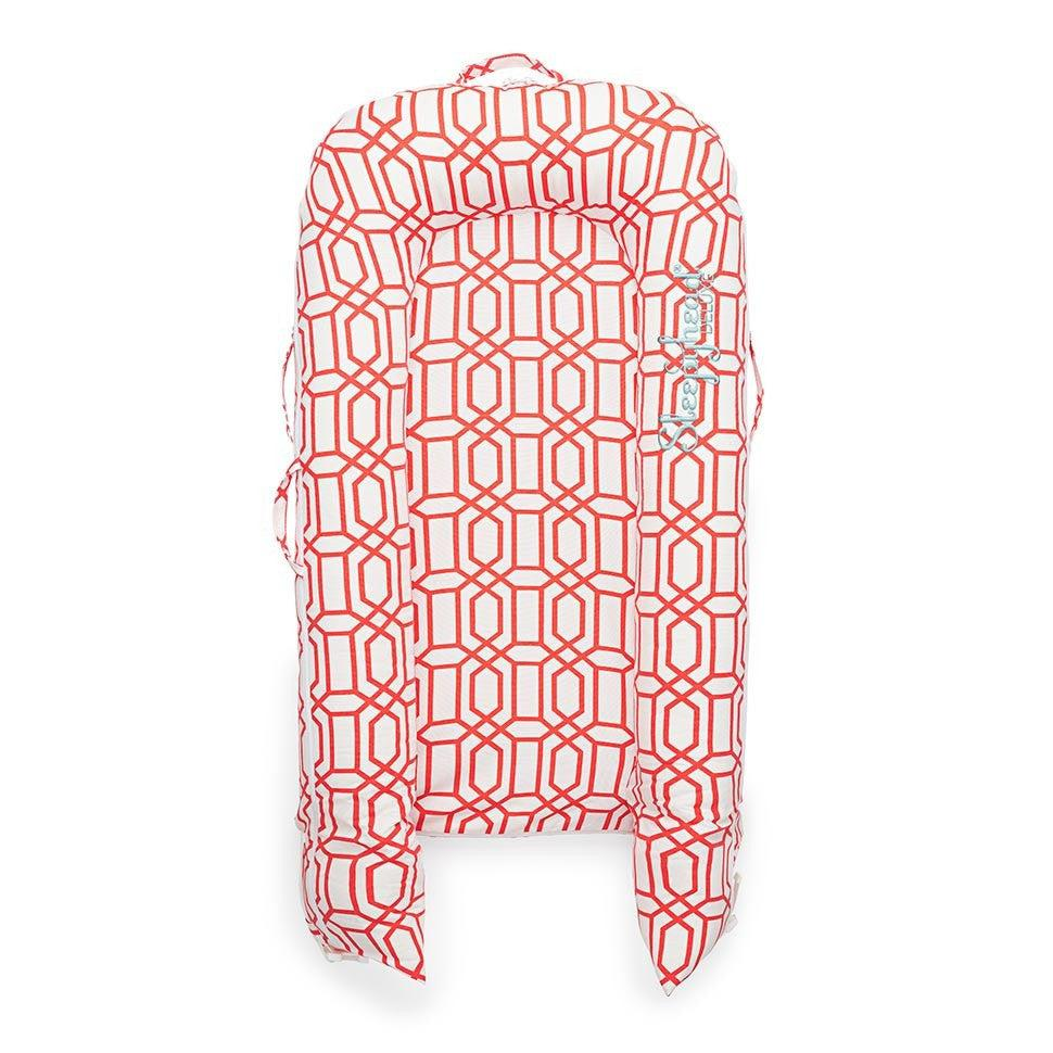Sleepyhead Deluxe+ Pod - Coral Trellis-Baby Nests- Natural Baby Shower