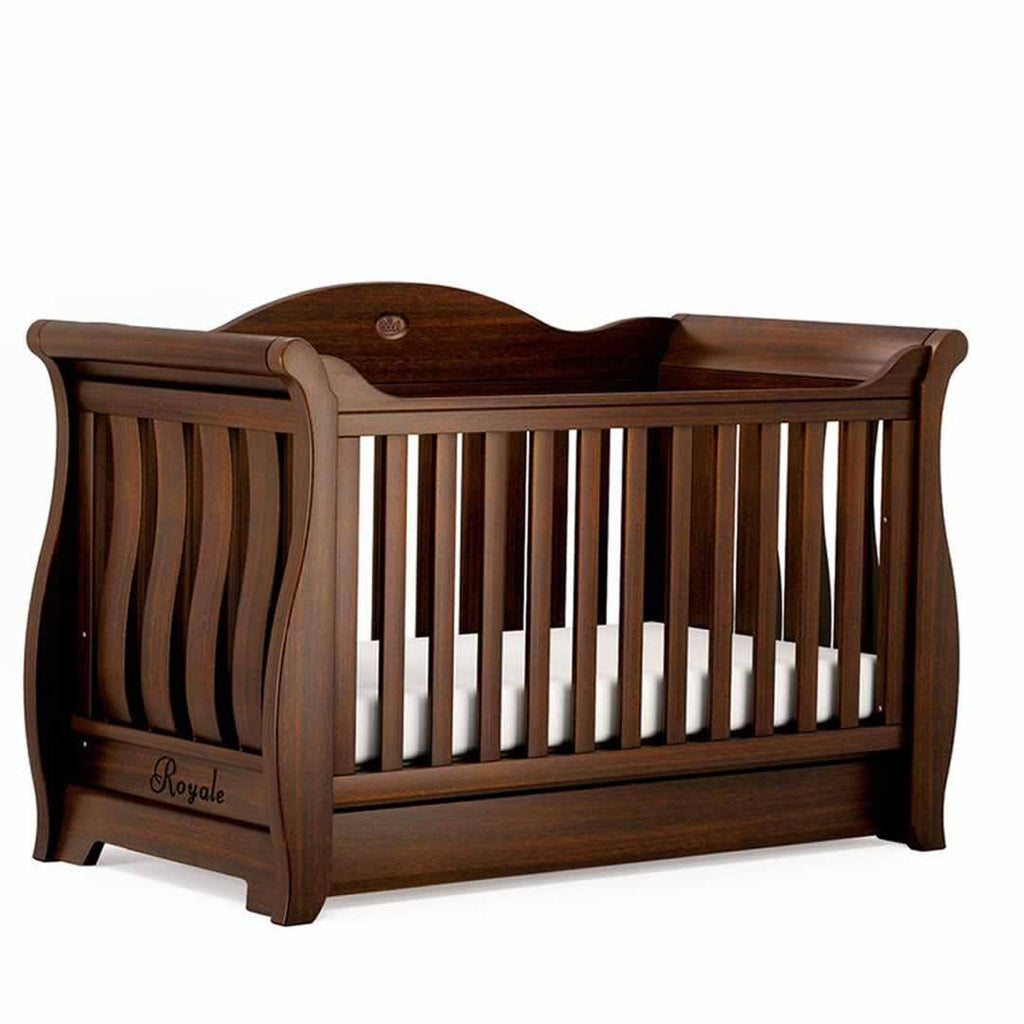 Boori Sleigh Royale 3 Piece Nursery Set Cot - English Oak