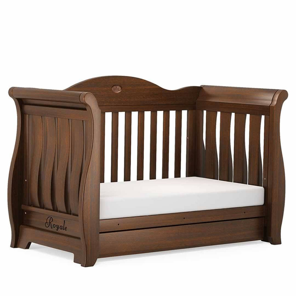 Boori Sleigh Royale Cot 2 Piece Nursery Set English Oak