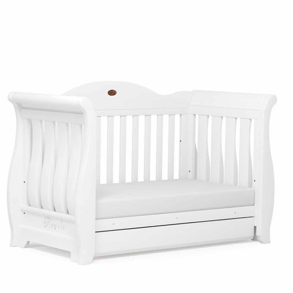 Boori Sleigh Royale Cot 2 Piece Nursery Set White