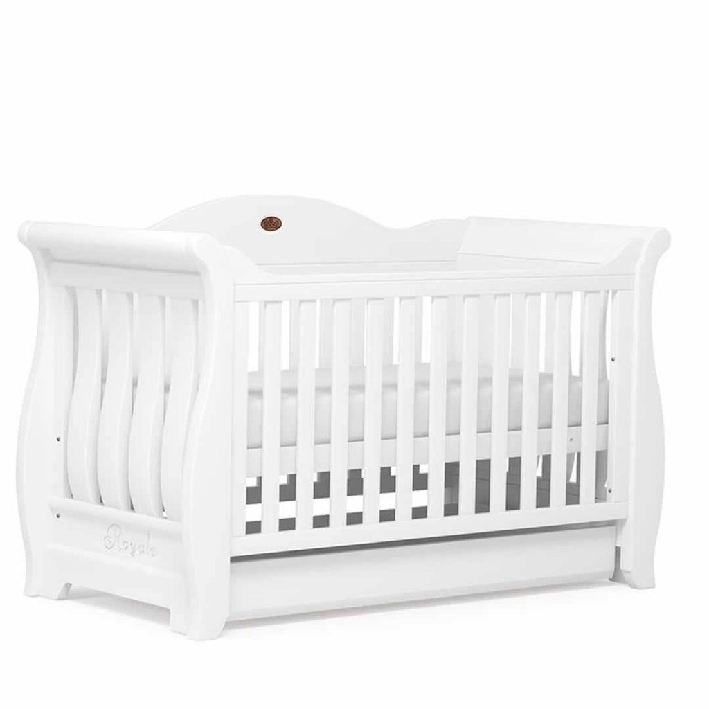 Boori Sleigh Royale 3 Piece Nursery Set Cot White