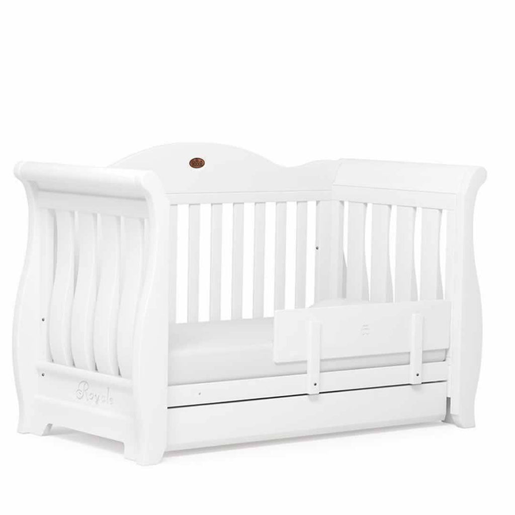 Boori Sleigh Royale 3 Piece Nursery Set Cot in White