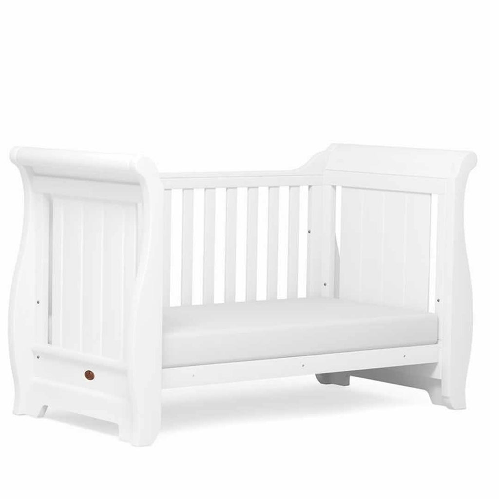 Boori Sleigh Cot 2 Piece Nursery Set White