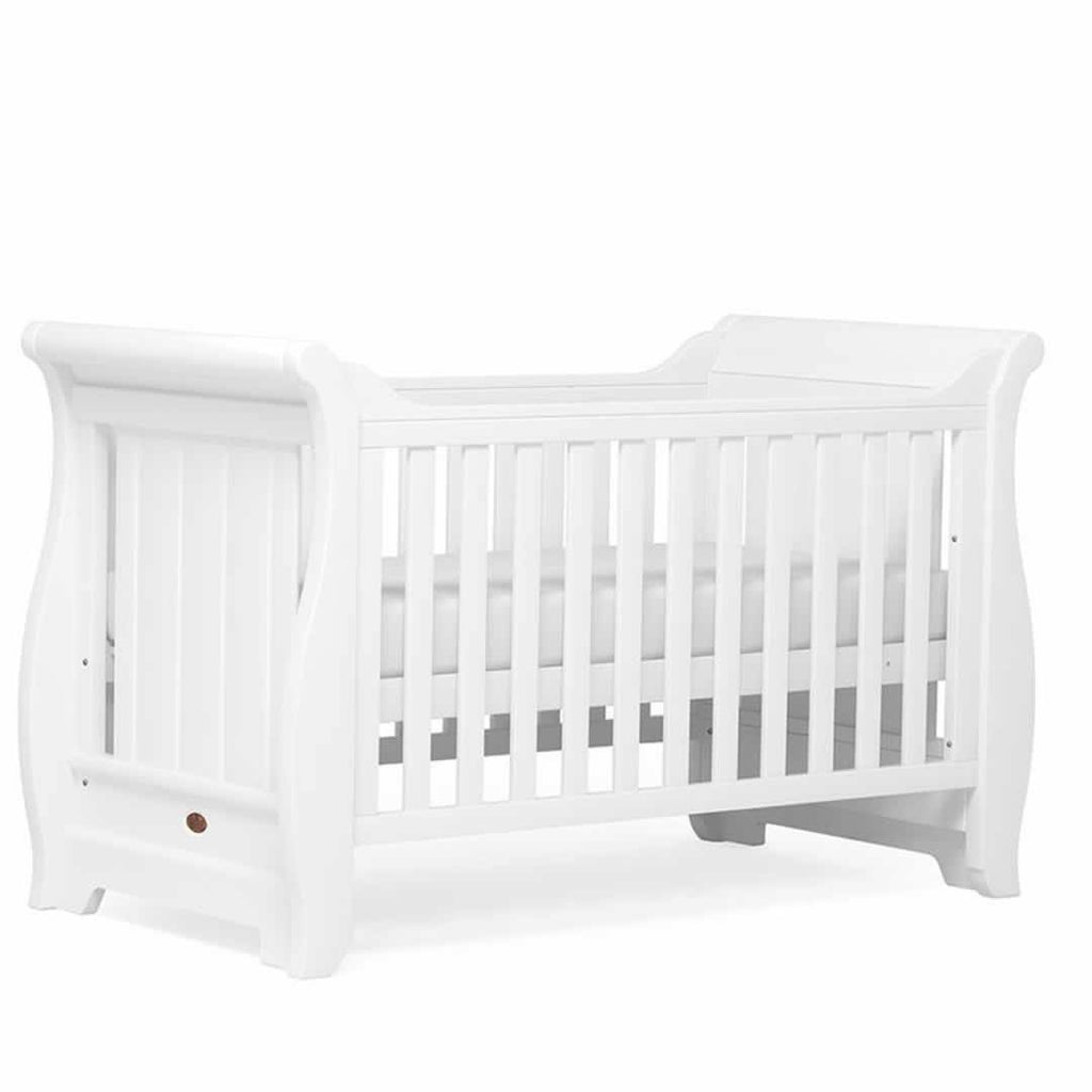 Boori Sleigh 2 Piece Nursery Set Cot White