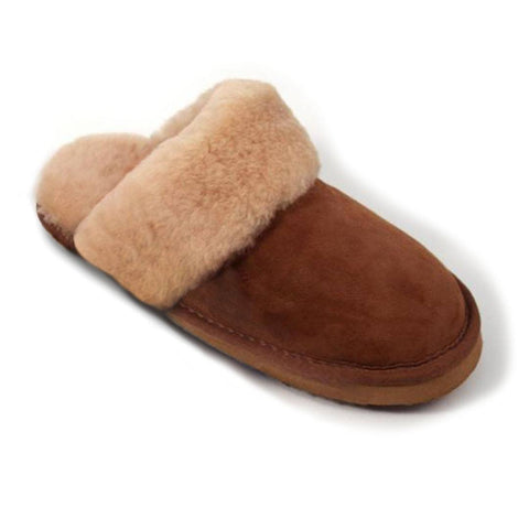 ECL Sheepskin Slippers for Ladies - Slippers - Natural Baby Shower