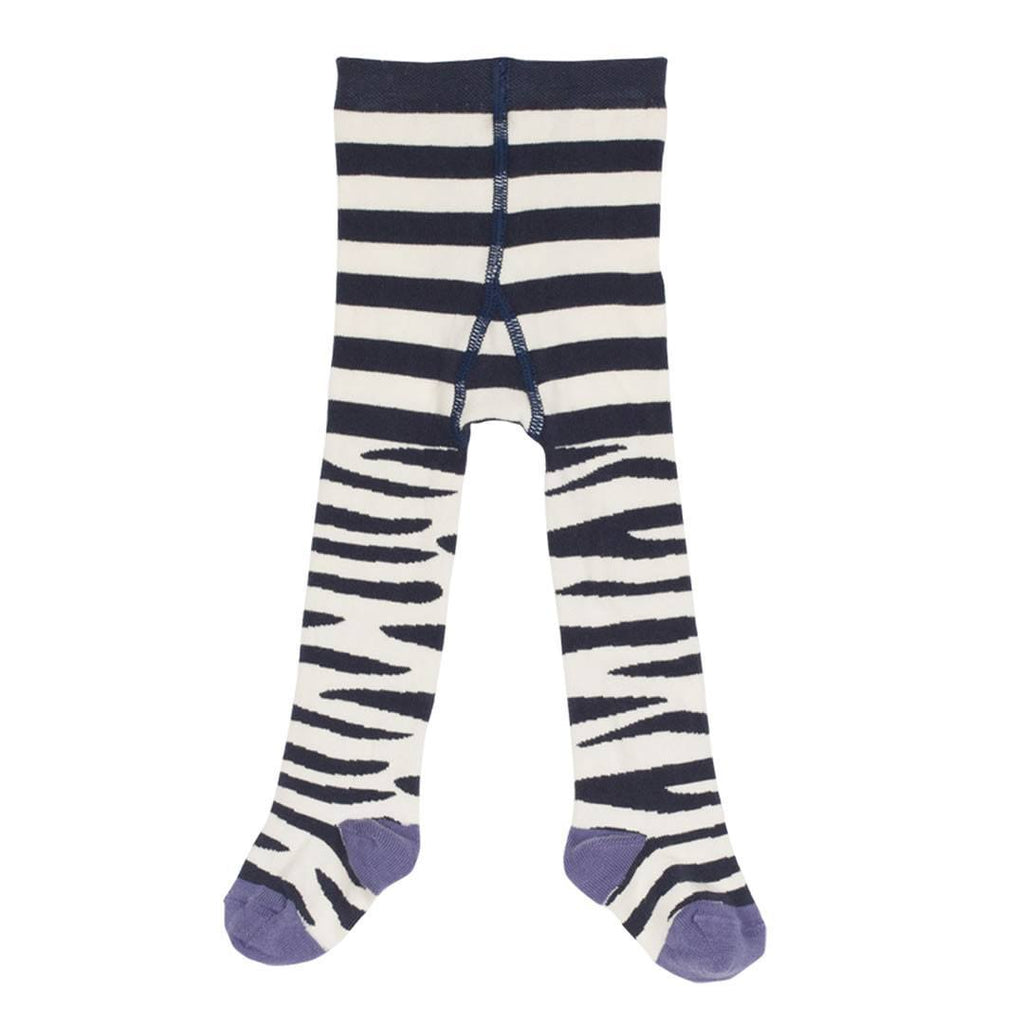 Socks & Tights - Frugi Little Norah Tights - Zebra Stripe