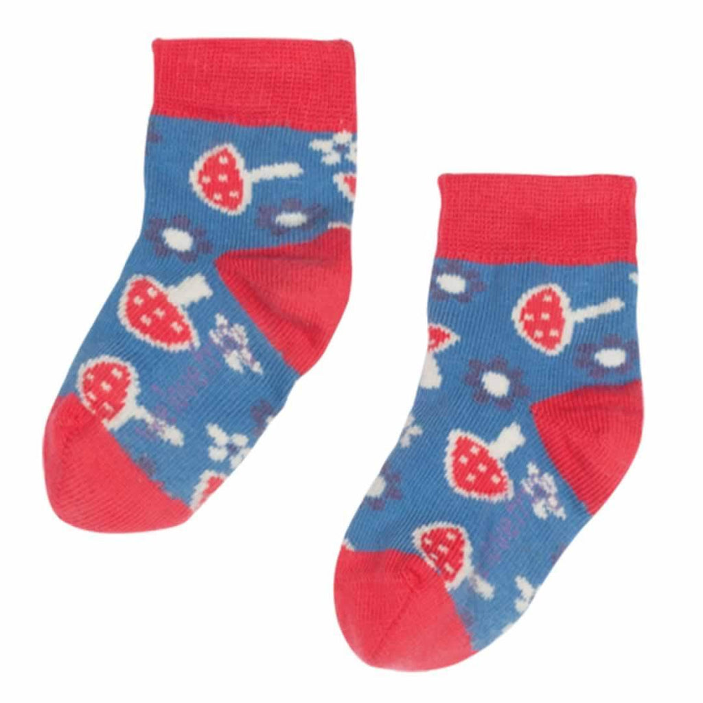 Socks & Tights - Frugi Socks - Mushrooms - 3 Pack