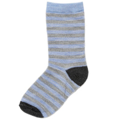 Socks & Tights - Nui Organics Merino Child Socks - Sky Stripe