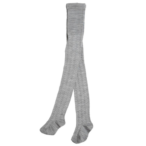 Socks & Tights - Nui Organics Merino Child Tights - Silver Pattern