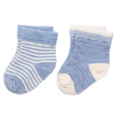 Socks & Tights - Nui Organics Merino Infant Socks - Sky - 2 Pack
