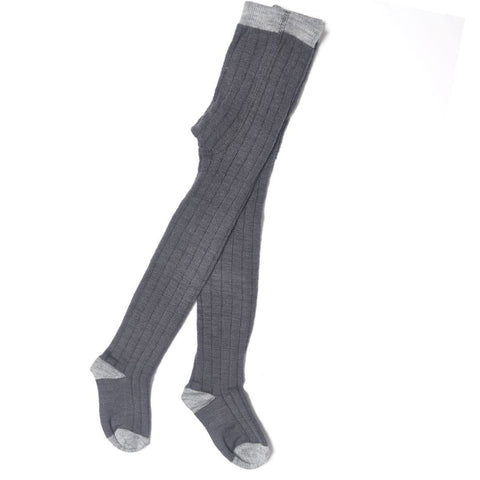 Socks & Tights - Nui Organics Merino Tights - Charcoal
