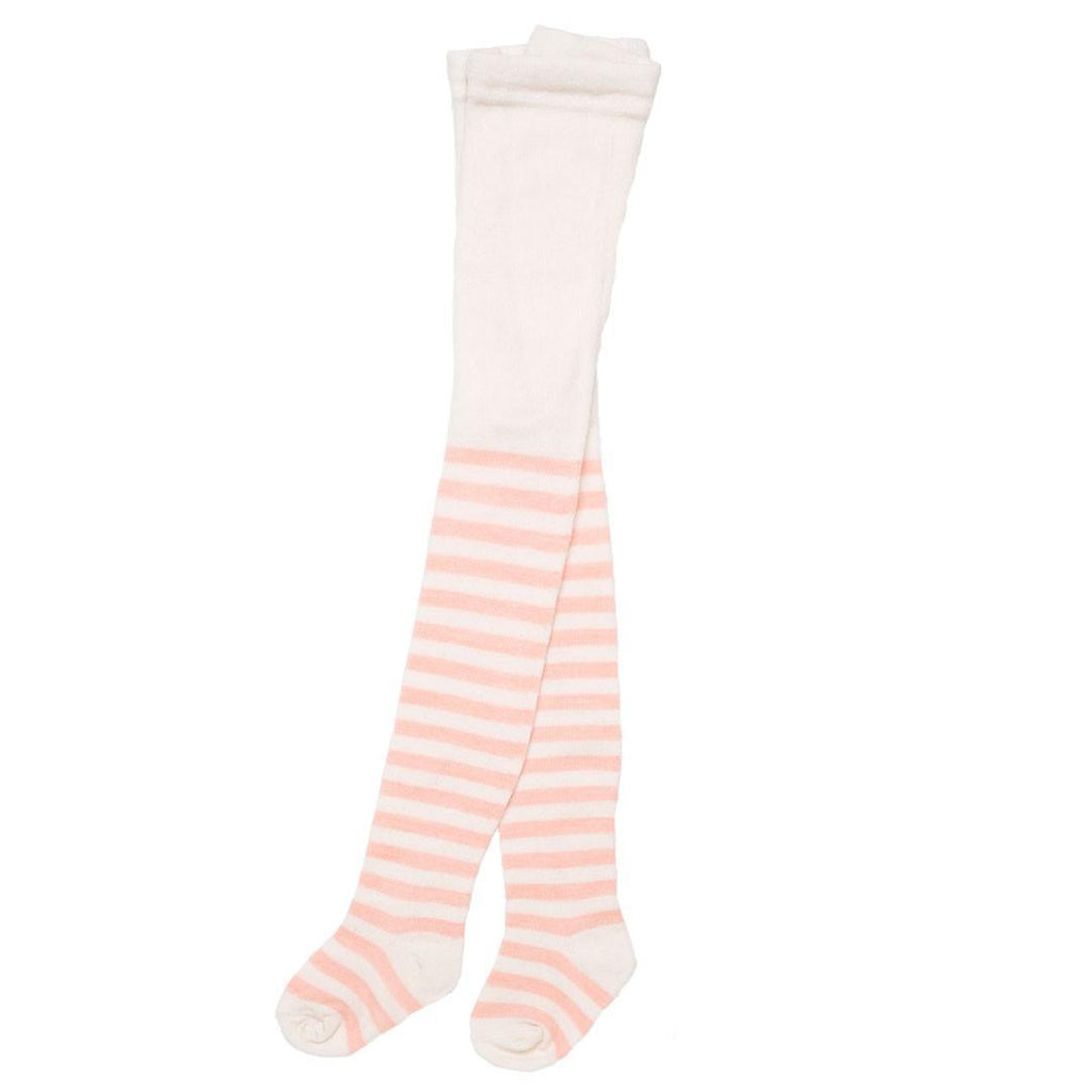 Socks & Tights - Nui Organics Merino Tights - Pink Stripe