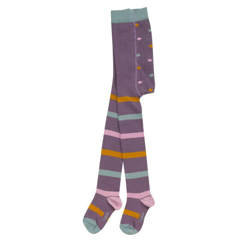 Pigeon Organics Tights - Stripey - Plum - Socks & Tights - Natural Baby Shower