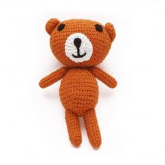 Soft Toys - Ana Gibb - Knitted Amigurumi Teddy Bear - Orange