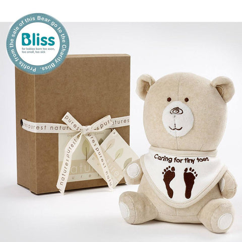 Natures Purest Bliss Charity Teddy - Hug Me Bear - Soft Toys - Natural Baby Shower