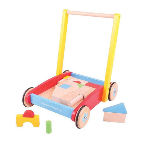 BigJigs Wooden Baby Walker - Sorting & Stacking Toys - Natural Baby Shower