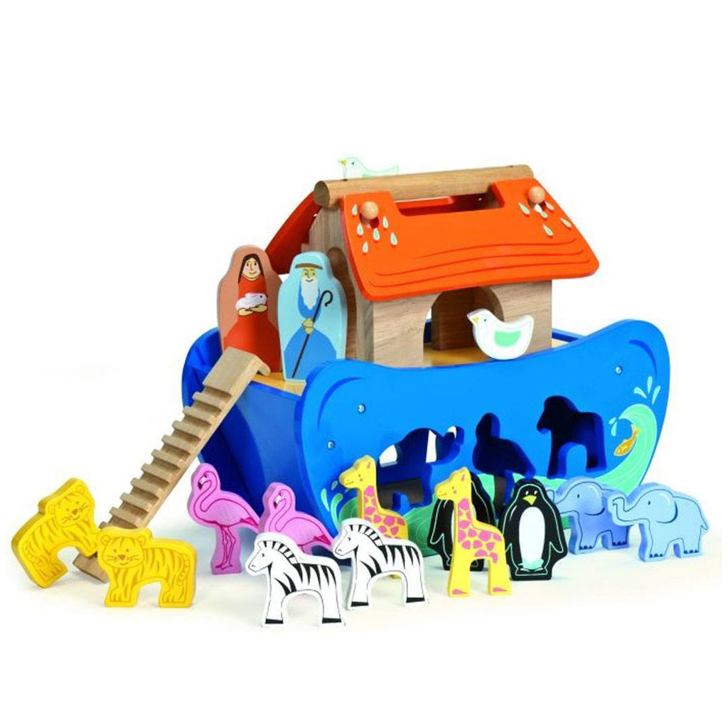 Le Toy Van - Noah's Shape Sorter - Sorting & Stacking Toys - Natural Baby Shower