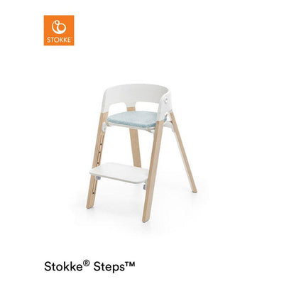 Stokke Steps Chair Cushion - Jade Twill-Highchair Cushions & Pads- Natural Baby Shower